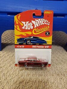 Hot Wheels Classics Series 1 #2/25 1965 Pontiac GTO Choice of Color Variations