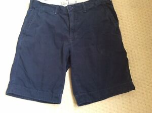 Mens RALPH LAUREN Navy Chino Shorts. Waist 32.  Relaxed Fit.  In Good Condition.