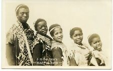 RPPC African Kaffir Boys Choir Native Clothing in  England
