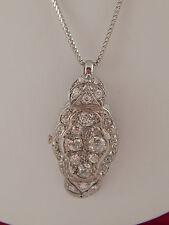 3.20 tcw ART DECO Old Mine Cut Diamond G/VS Handmade Pendant Platinum Necklace