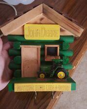 John Deere Tractor Key Holder Hook for 4 Sets of Keys Wood Cabin Handcrafted