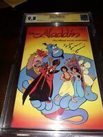 "Signed Disney's Aladdin 1 CGC SS 9.8 (1992) ""Jasmine"" Linda Larkin - New Slab"