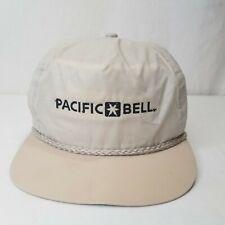 Vintage Pacific Bell Strapback Hat Nylon Cap Imperial Headwear Denver Colorado