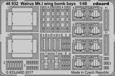 Eduard 1/48 Photoetched Walrus Mk. I wing bomb bays for Airfix kit - 48932
