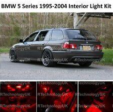 RED PREMIUM BMW 5 SERIES E39 ESTATE INTERIOR FULL LED BULBS LIGHT KIT SET