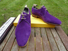 VT675 John Lobb - WILLOUGHBY - Regal Purple Suede - UK 6.5 F - 8000 Last