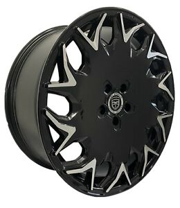4 Wheels GV06 20 inch Gloss Black Rims fits CADILLAC CTS SEDAN 2008 - 2018