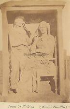 Cimetière du Céramique Sculpture Moraitis Athènes Grèce Vintage albumine ca 1875