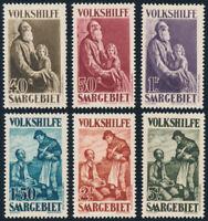 SAARGEBIET, MiNr. 128-133, 128-33, tadellos postfrisch, Mi. 230,-