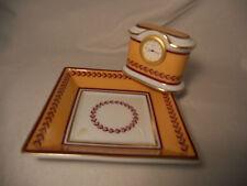 orologio  e  vuotatasche porcellana di Limoges Bernardaud