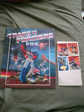 Retro vintage Panini Transformers sticker album