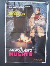 """""""Death Wish"""" """"El mensaje de la muerte"""" Original Spanish Movie Poster ''28 x 35''"""
