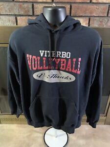 Viterbo NCAA Volleyball V Hawks Hooded Sweatshirt Womens Size Large La Crosse