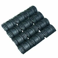 12 PC Universal Weaver Picatinny Rubber Rail Covers  - Black
