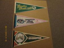 SAL The Greensboro Hornets Vintage Circa 1994 Bats & 2004 Grasshoppers Pennants