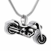 Urn Motorbike Harley Necklace Cremation Jewellery Ashes Pendant Locket Keepsake