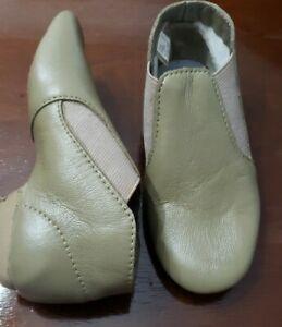 Theatrical Child Size 13 Medium Tan Slip On Jazz Boot