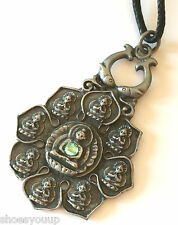 Briar Dharma Pewter Symbolic Pendant Charm, BLOOM OF ENLIGHTENMENT