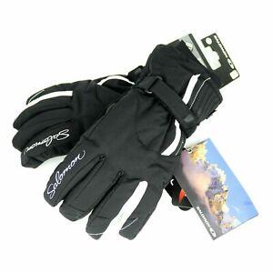 Salomon Pulse CS Ski Snowboard Winter Gloves Black Womens Size L