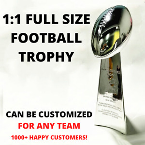 1:1 FULL SIZE REPLICA SUPER BOWL VINCE LOMBARDI TROPHY CUP CUSTOM ANY TEAM YEAR