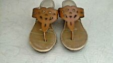"""Sam & Libby NEW WTag Cut Out Slide Sandals 2.5"""" Cork Wedge Size 7.5M"""