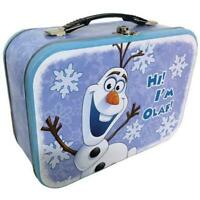Disney Movie Frozen 26405 OLAF THE SNOWMAN 10x7 Metal Tin Tote / Lunch Box NEW