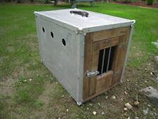 VINTAGE Aluminum /Wood Dog Cage Pet Travel Car Crate Kennel BIRD,RABBIT CAT SEE