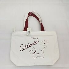 NST Radley London (Authentic) Celebrate Canvas Top Zip Tote Red PRS W5