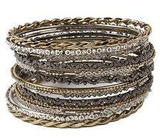 Bangle Bracelet Set Bbas 502 Nwt Amrita Singh Sammy Gold Gunmetal 14