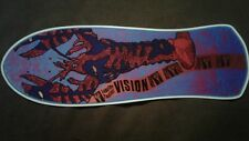 Vision Lobster Fantail replica Skateboard Deck Shaped Sticker over 7""