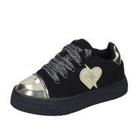 Chaussures de Bébé FIORUCCI 25 Ue Baskets Noir en Daim Sintetique BM424-25