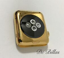 24 quilates chapado en oro 42mm Apple Reloj Serie 2 ACERO INOXIDABLE