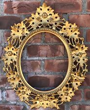 "Gorgeous C1890 Oval Italian Gold Gilded Florentine Picture Frame For 12"" X 10"""