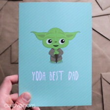 Yoda Best Dad. Funny Father's Day Card - Starwars Geeky