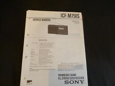 Original Service Manual Sony ICF-M750S