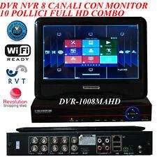 DVR 8 CANALI IBRIDO ANALOGICO AHD IP CON MONITOR 10 POLLICI P2P  TOP QUALITY