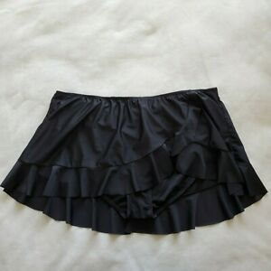Collections by Catalina Plus Size 3X Skirted Ruffled Swim Bottom Swimsuit NWOT