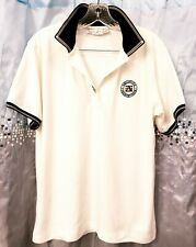Bette & Court Signature Collection Ladies Size Medium White Tennis Polo Shirt
