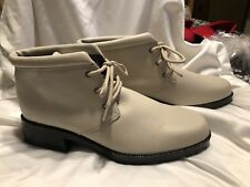 Laura Scott Beige (light Tan) Leather Lace Up Ankle Booties 11 M
