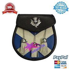 Falda Escocesa Sporran Semi Vestido CRUZ / bolso tipo SILBATO Escudo Insignia