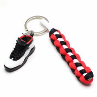 3D Mini Sneaker Shoes Keychain Retro Nickel With Strings for Air Jordan 10