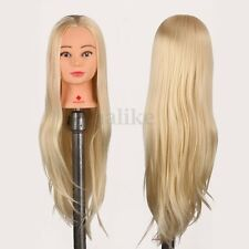 29'' Human Hair Long Hairdressing Practice Training Head Doll Mannequin + Clamp
