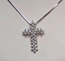 SILVER TONE CROSS AND CHAIN