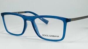 Dolce & Gabbana DG5023 Men's Plastic Eyeglass Frame 3067 Transparent Blue 52-18
