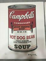 Andy Warhol Litografia Campbells cm 40x50 con certificato di autenticita'