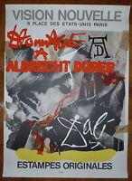 Dali Salvador Affiche originale lithographie Durer Surréalisme Mourlot Imp Paris