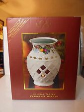 1999-2013 LENOX Holiday Tartan Pierced Candle Fragrance Warmer NEW in Box