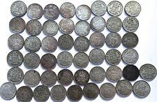 Full Roll 50 Great Britain George VI Silver Sixpence 1937 - 1944