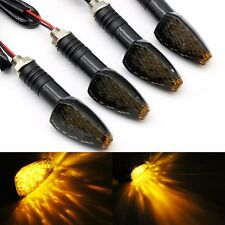 4PCS MOTORCYCLE LED TURN SIGNAL LIGHT MOTORBIKE DIRT BIKE BRAKE INDICATOR AMBER