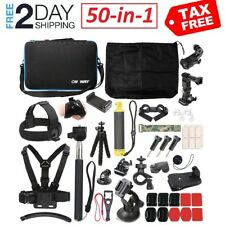 50 in 1 Action Camera Outdoor Sports Accessories Kit GoPro Hero 7/6/5/4/3/2/1 !